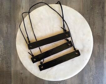 simple ceramic necklace | black bar
