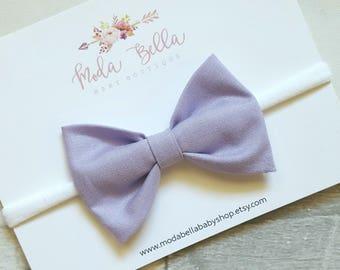 Purple Bow, Baby Headband, Baby Bow, Bows, Hair Bows, Hair Accessories, Newborn Headband, Infant Headbands, Baby Girl Headbands