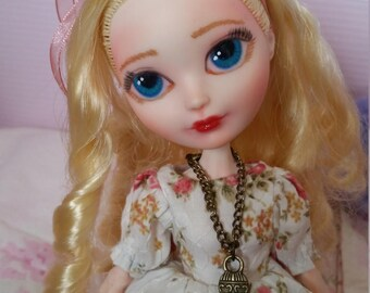 Repainted ever after high doll apple white