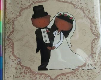 Personalised children wedding activity colouring book