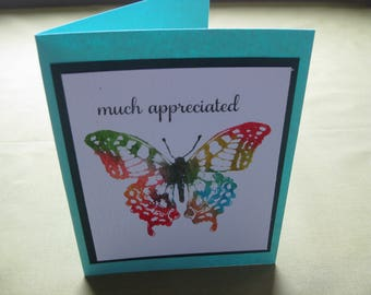 Thank You Cards - Much Appreciated - Butterfly