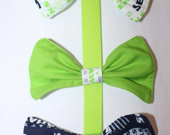 3 NFL Seattle Seahawks Hair Bows