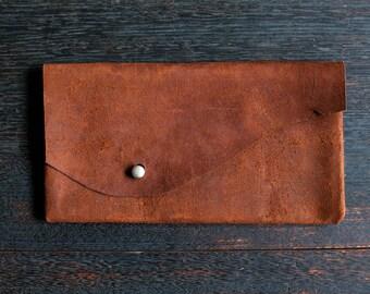 Clutch - Suede Kangaroo Leather (Chocolate Brown)