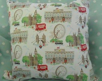 Cath Kidston Cushion Cover, Handmade from London Scene Fabric
