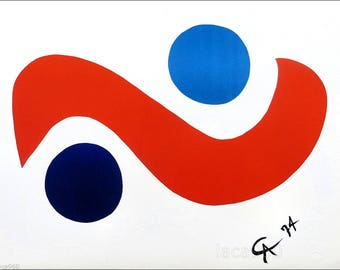 Alexander Calder, Flying Colors 1, Lithograph