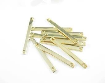 5PC- Matte Gold Bar, Stamping Blanks, Minimalist Jewelry Supplies 40 x 3.5mm