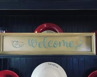 Rustic distressed Welcome