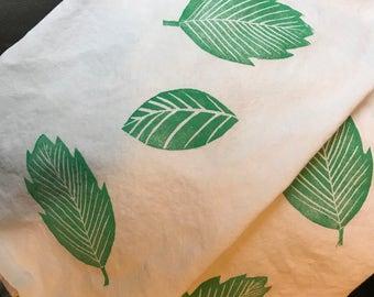 Tropical Leaves Tea Towel Set