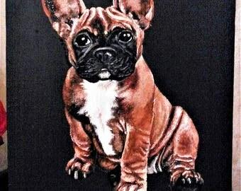 Pet painting. Pet portrait. Custom dog oil painting. Textured wall art. Custom animal portrait. Art wall decor. Art-oil painting.