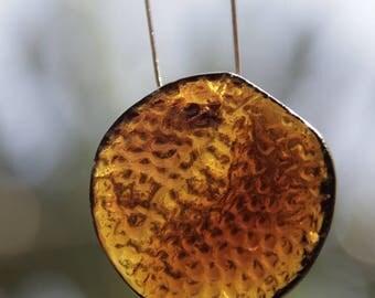 Kiln Cast Glass Coral Pendant