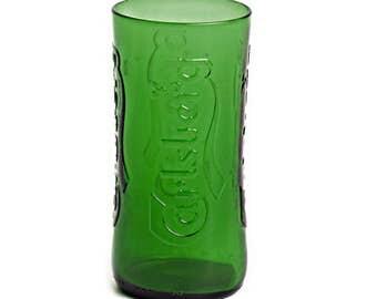 Recycled Beer Bottle Tumbler - Carlsberg - Drinking Glass Made from Bottle