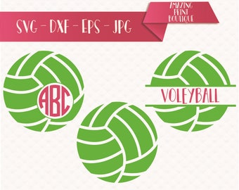 Volley Ball monogram SVG, Volley Ball svg, Volley Monogram SVG, Volley Ball, Volleyball SVG Cut Files, Vector svg dxf eps png Cricut svg