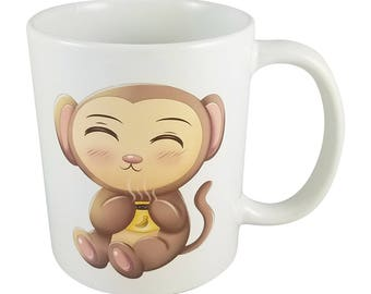 Cute Kawaii Chibi Monkey Mug