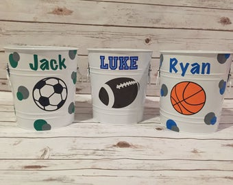 Personalized toy buckets/trash cans