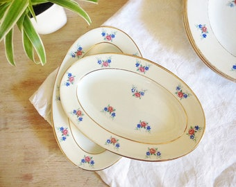 Vintage the amandinoise Saint-Amand-les-eaux Poreylor porcelain plates