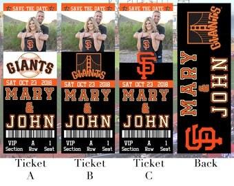 San Francisco Giants Birthday Ticket Invitation