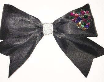 Black Sequin Hair Bow