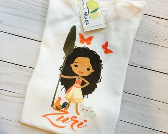 Moana and Pua Birthday Shirt with name and number