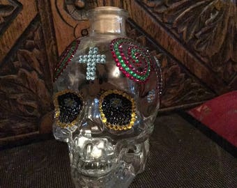 Mexican day of the dead Crystal skull