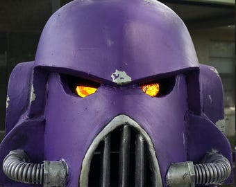 Space Marine Helmet from WarHammer 40K.  Custom colors for a specific client.