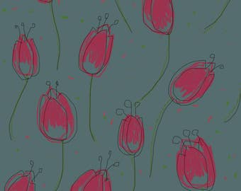 Tulips flowers wallpaper and pattern