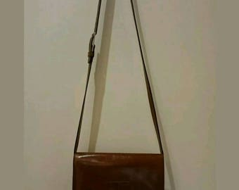 JOOP! Conuac Brown Leather Crossbody Bag