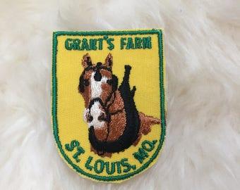 Vintage Grant's Farm St.Louis, MO. Patch