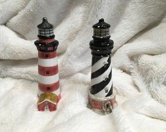 Salt and Pepper Shaker, lighthouse