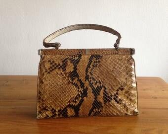 Genuine python handbag - vintage