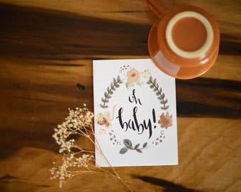 Announcement Cards | Oh Baby! | Set of 10, 15 or 20