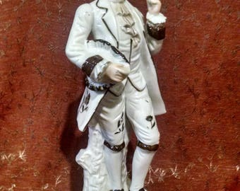 Porcelain French Baroque Dandy Figure
