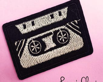 Vintage Cassette Tape Iron on Patch