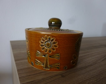 Achim Gelhard 70s pottery sugar bowl with lid