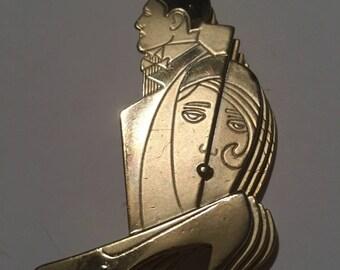 Vintage figural ajc modernest brooch