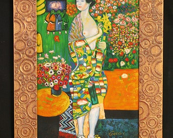 "KLIMT'S gold framed oil painting ""reproductions"""