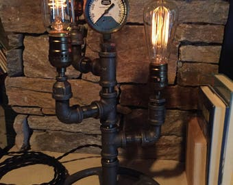 Steampunk Industrial Lamp- #102 Wizard's Tower