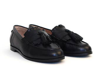 Padma Leather Loafer - Black