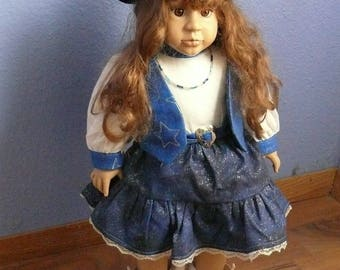 Cowgirl Doll Dressed in Blue