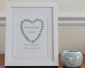 Personalised wedding print- unframed