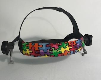 Puzzle Pieces Welding Hood Headband