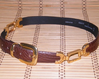 Vintage French Leather Belt