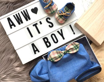 Baby gift ideas to the birth of boy baby pants and baby shoes