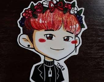 S210 The8 Flower Crown Sticker