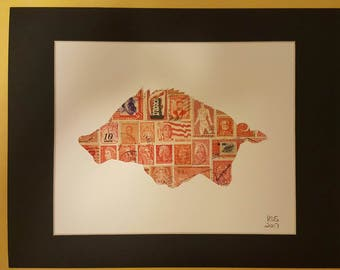 Arkansas Razorback (postage stamp art)