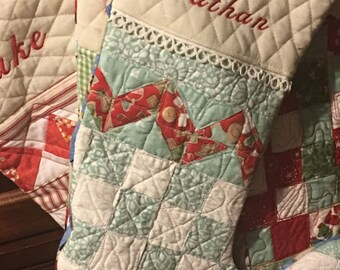 Quilted stockings made to order