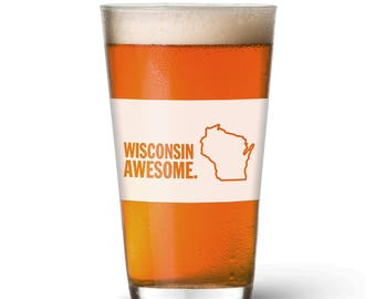 Wisconsin Awesome Pint Glass