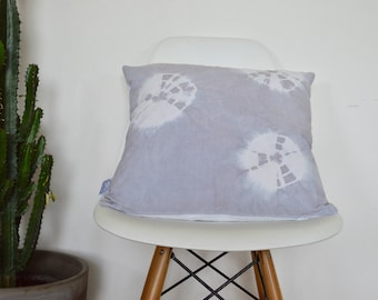 Cushion Shibori Tie Dye Pearl gray
