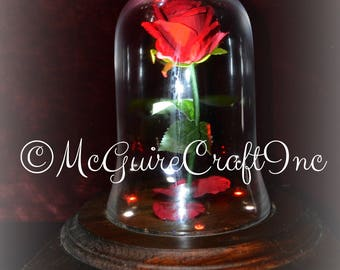 Limited edition handcrafted rotating enchanted rose!