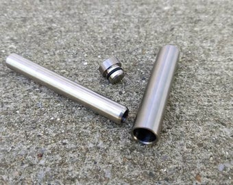 Titanium Single Hitter & Stash Can Set