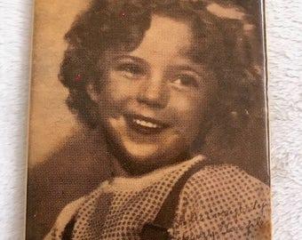 Vintage 1930's Shirley Temple Pocket/Hand Mirror